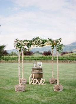 matrimonio tema vino